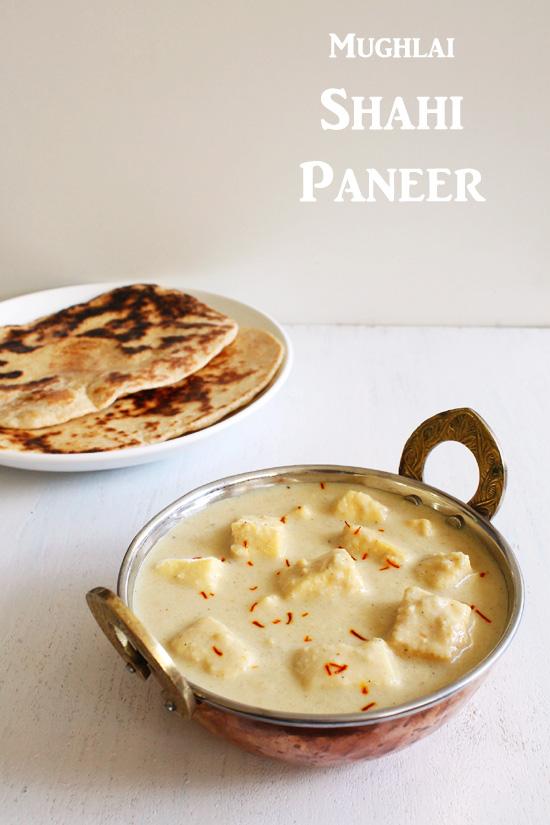Mughlai Shahi Paneer Recipe (Mughlai Paneer in White Gravy)