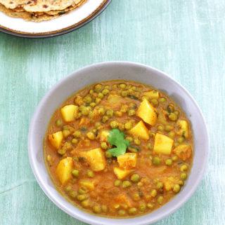 Punjabi aloo matar recipe