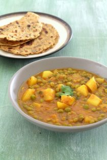 Aloo matar recipe | Punjabi style aloo matar gravy