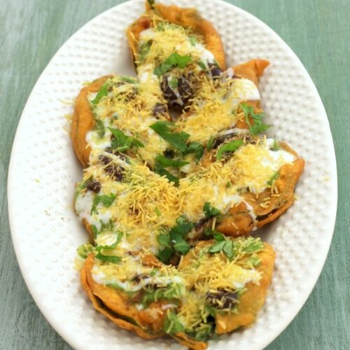 Palak chaat recipe | Spinach chaat (Palak pakoda chaat recipe)