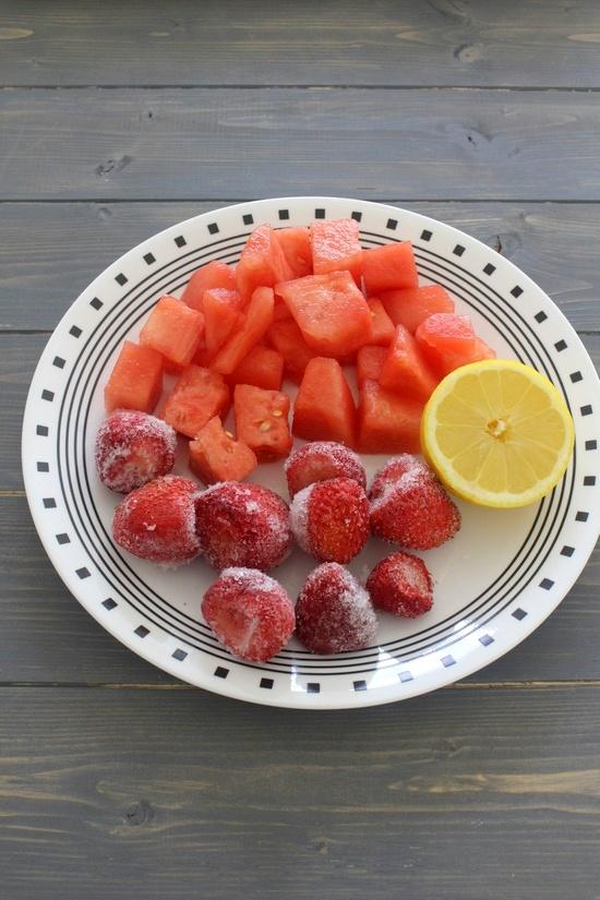 Strawberry watermelon juice recipe (Fresh fruit juice recipes)