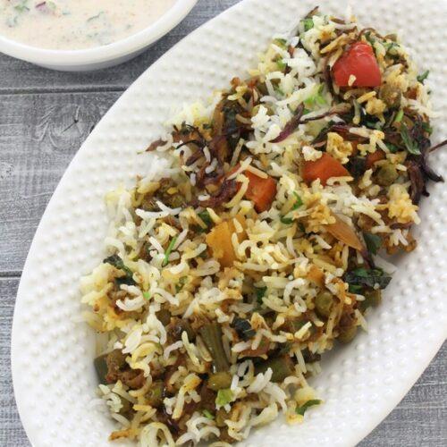 Veg biryani recipe | How to make Hyderabadi veg dum biryani