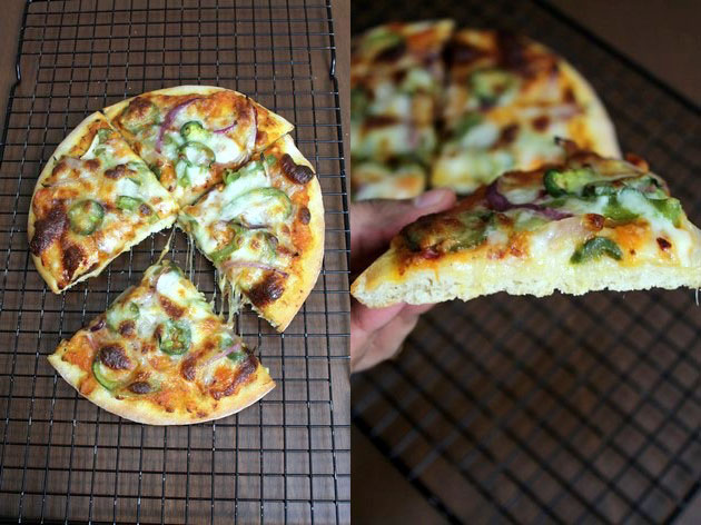 Veg pizza recipe | How to make veg pizza, Vegetarian pizza recipe