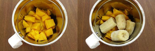 Mango banana smoothie recipe (with coconut milk)
