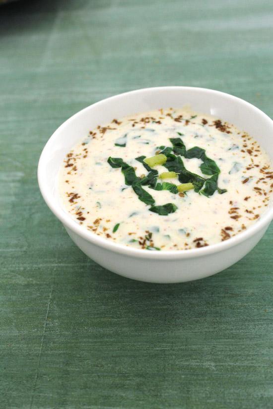 Palak raita recipe   Spinach raita   how to make palak raita