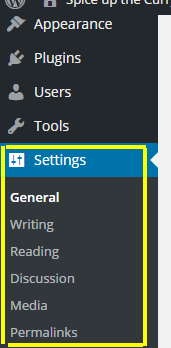 WordPress settings after installing first time