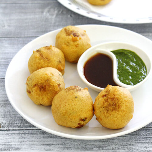 Batata vada recipe (How to make batata vada) Mumbai street food