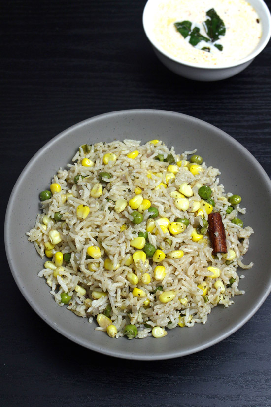 Corn pulao recipe (How to make sweet corn pulao)