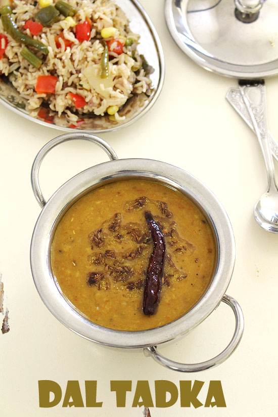Dal tadka recipe, Restaurant style (How to make dal tadka)