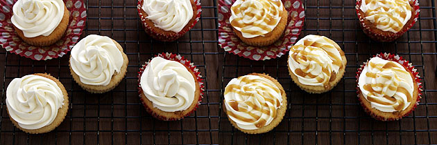 Eggless butterscotch cupcake recipe, How to make butterscotch cupcakes