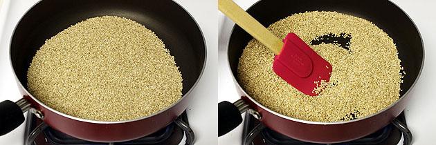 Roasting sesame seeds