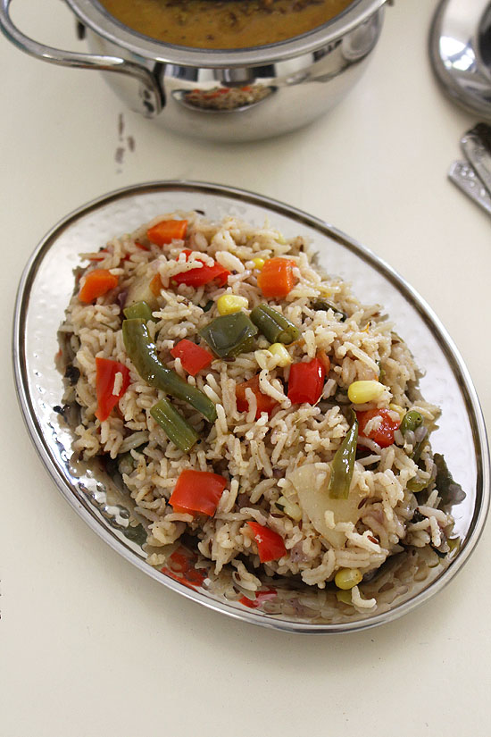 Veg pulao in pressure cooker | Easy vegetable pulao recipe