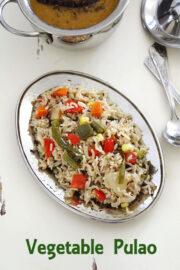 Veg pulao in pressure cooker | Easy vegetable pulao recipe