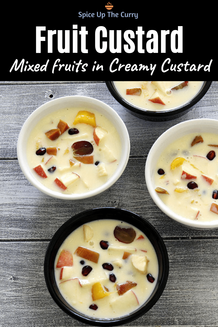 Fruit custard recipe pin