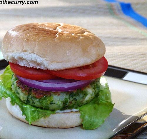 Green peas burger recipe (How to make paneer green peas burger)