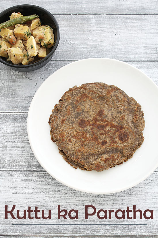 Kuttu ka paratha recipe (How to make kuttu ka paratha for vrat, fasting)