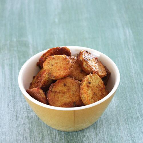 Sukhi arbi recipe for vrat (How to make sukhi arbi), Dry arbi recipe