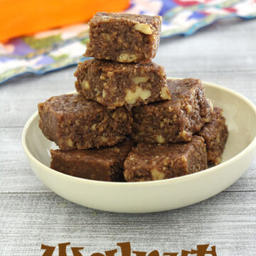 Walnut burfi recipe (How to make walnut burfi recipe), Akhrot burfi