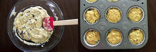 Eggless orange muffins recipe, How to make orange chocolate chip muffin