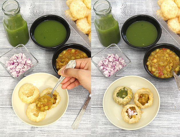 Ragda pani puri recipe (How to make pani puri recipe with ragda)