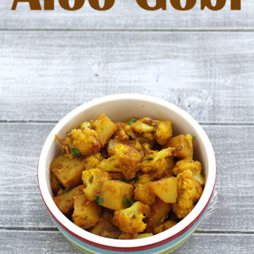 Aloo gobi recipe (How to make aloo gobi), Dry aloo gobi sabzi recipe