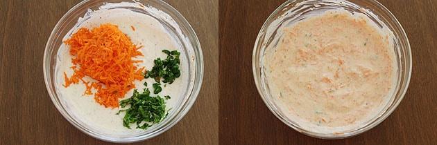 Carrot raita recipe (How to make carrot raita), Gajar raita recipe