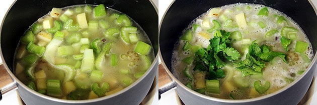 Celery soup recipe (How to make celery and potato soup recipe)