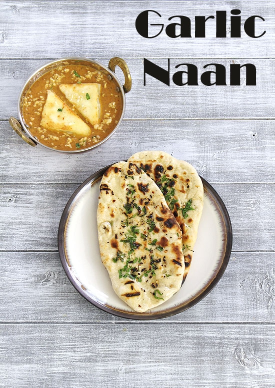 Garlic naan recipe (How to make garlic naan recipe on stove top, tawa)