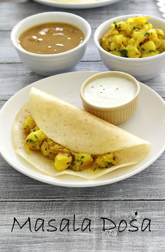 Masala dosa recipe (how to make masala dosa with potato masala)