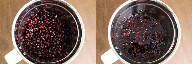 Pomegranate juice recipe (How to make pomegranate juice recipe)