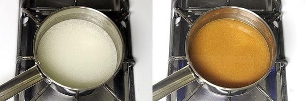 take sauce ingredients in a saucepan