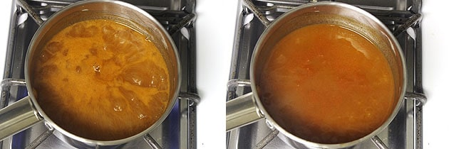 simmer the sauce till becomes thick