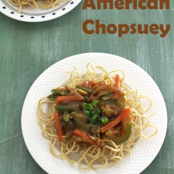 Veg american chopsuey recipe (How to make veg american chop suey)