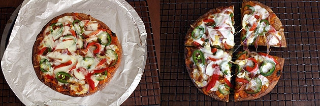 Pizza recipe using whole wheat flour (How to make atta pizza recipe)