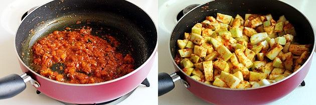 adding chopped lauki