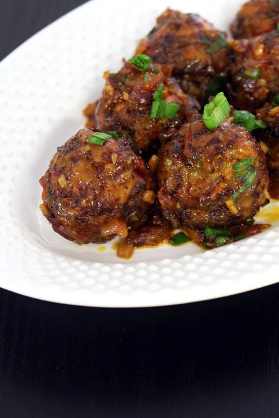 how to make dry veg manchurian recipe