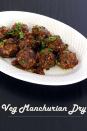Veg manchurian dry recipe (How to make dry veg manchurian recipe)
