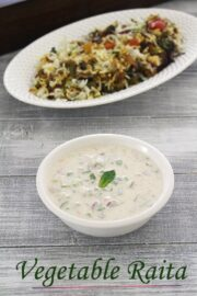 Vegetable Raita Recipe (Mixed Veg Raita) How to make vegetable raita