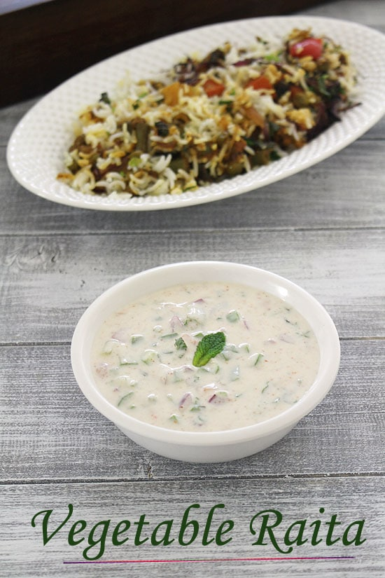 Vegetable raita recipe mixed veg raita how to make vegetable raita forumfinder