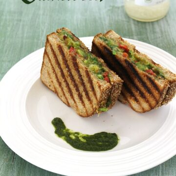 Chilli Cheese Sandwich Recipe (How to make Mumbai Chilli Cheese Toast Sandwich)