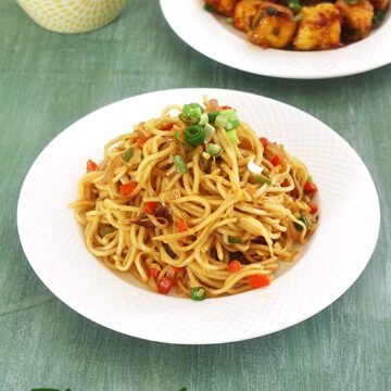 Veg Chow Mein Recipe, Indian Chinese style (How to make Vegetable Chow Mein)