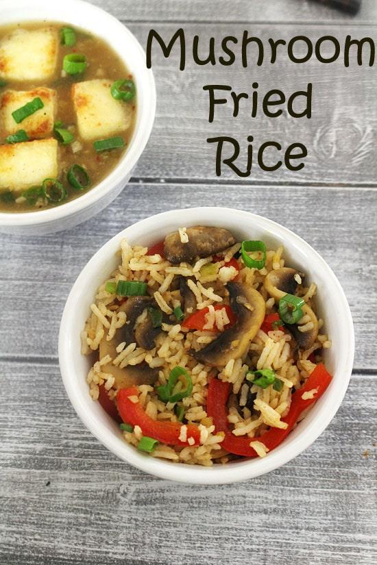 Mushroom Fried Rice Recipe (How to make Mushroom Fried