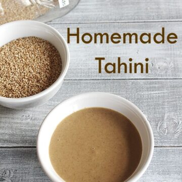 Tahini Recipe (How to make Tahini Paste), Homemade tahini paste recipe