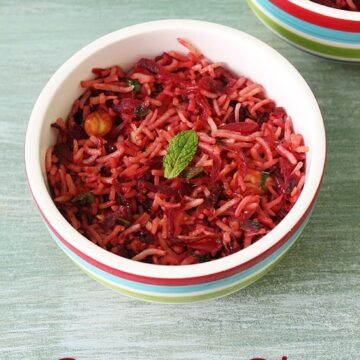 Beetroot Rice Recipe (How to make beetroot rice recipe), Beet Rice