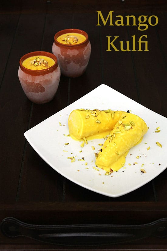 Mango kulfi recipe (How to make mango kulfi recipe using custard powder)