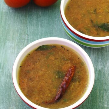 Tomato Rasam Recipe (How to make Quick and Easy tomato rasam)