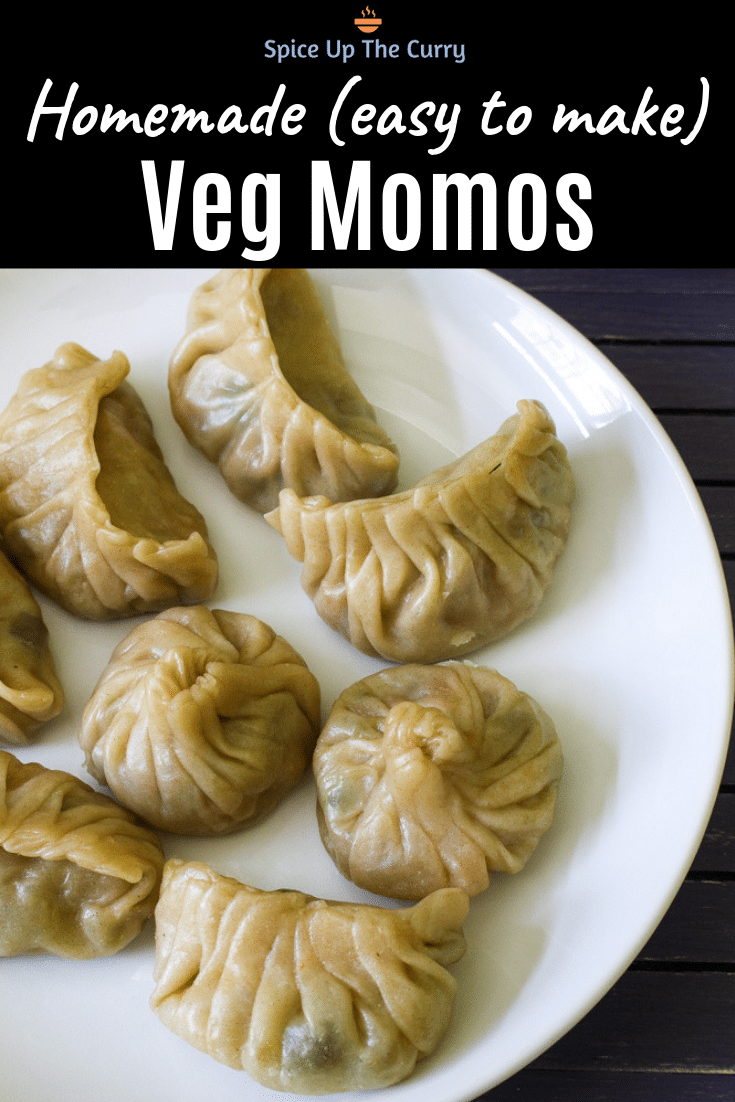 veg momos recipe pin