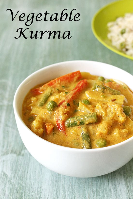 Veg Kurma Recipe (Mixed Vegetable Korma Recipe, Hotel style)