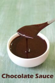 Chocolate Sauce Recipe (Chocolate Syrup Recipe with Cocoa Powder)
