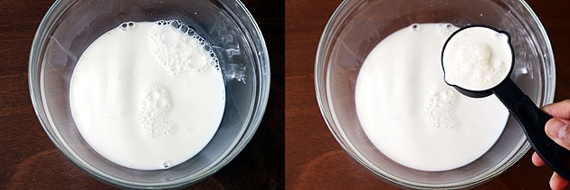 Mix heavy cream and condensed milk